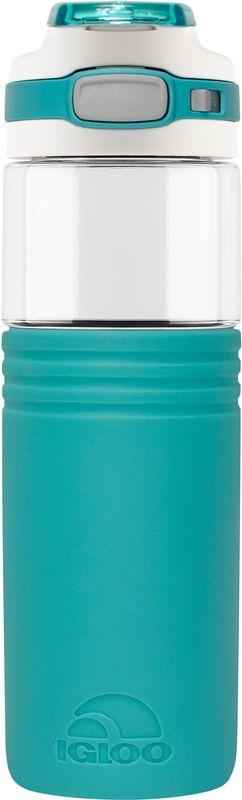 Бутылка для воды Igloo Tahoe, пластиковая, цвет: зеленый, 710 мл170389Большая герметичная пластиковая бутылка для воды с откидной пробкой, фиксатором закрытого положения и встроенной в крышку ручкой для переноски.Tahoe 24 aqua обладает высокой прочностью и продуманным функционалом, подходит для ежедневного использования.