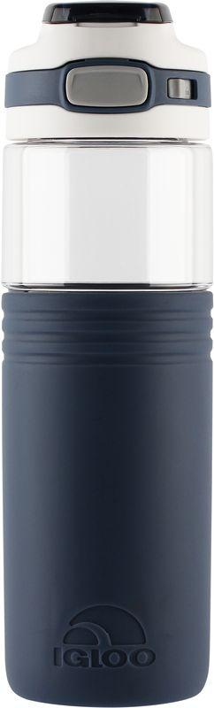 Бутылка для воды Igloo Tahoe, цвет: синий, 1,065 л170390Большая герметичная пластиковая бутылка для воды Igloo Tahoe обладает высокой прочностью и продуманным функционалом, подходит для ежедневного использования.Оснащена откидной пробкой, фиксатором закрытого положения и встроенной в крышку ручкой для переноски.Объем: 1,065 л.