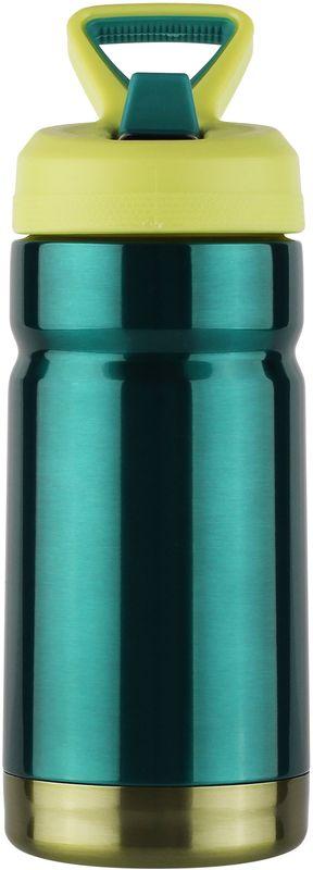 Термос CoolGear Vector, с вакуумной изоляцией, цвет: зеленый, 354 мл5001611Термос CoolGear выполнен из нержавеющей стали с вакуумной изоляцией. Изделие дополнено встроенным кольцом для переноски и стойкой к ударам крышкой, изготовленной из пластика. Термос прекрасно подойдет для ежедневного использования.