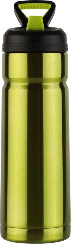 Термос CoolGear Vector, с вакуумной изоляцией, цвет: зеленый, 532 мл5001613Термос CoolGear выполнен из нержавеющей стали с вакуумной изоляцией. Изделие дополнено встроенным кольцом для переноски и стойкой к ударам крышкой, изготовленной из пластика. Термос прекрасно подойдет для ежедневного использования.