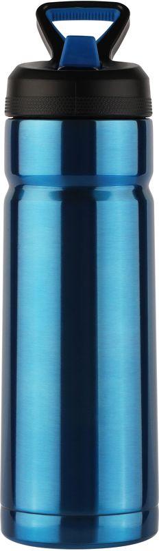 Термос CoolGear Vector, с вакуумной изоляцией, цвет: синий, 532 мл5001632Термос CoolGear выполнен из нержавеющей стали с вакуумной изоляцией. Изделие дополнено встроенным кольцом для переноски и стойкой к ударам крышкой, изготовленной из пластика. Термос прекрасно подойдет для ежедневного использования.