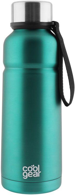 Термос CoolGear Cayambe, с вакуумной изоляцией, цвет: зеленый, 532 мл5001848Термос CoolGear выполнен из нержавеющей стали с вакуумной изоляцией. Модель дополнена встроенным ремнем для переноски и стойкой к ударам крышкой, изготовленной из пластика. Термос прекрасно подойдет для ежедневного использования или занятий спортом.