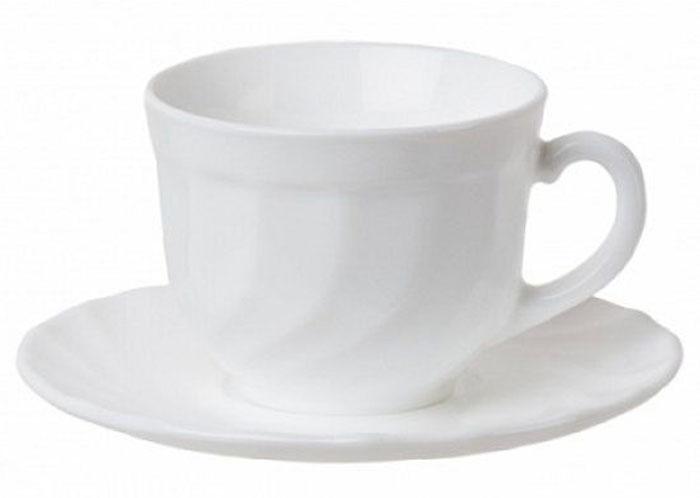 Сервиз чайный Luminarc Trianon, 8 предметовГ3538Чайный сервиз на 4 персоны выполнен из экологически чистого материала -ударопрочного стекла и состоит из 8 предметов: Чайная чашка, объемом 280 мл – 4 шт Чайное блюдце – 4 шт Подходит для использования в посудомоечных машинах и микроволновых печах