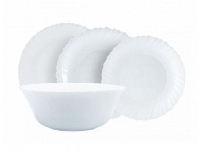 Сервиз обеденный Luminarc Feston, 19 предметовГ4426/14977Обеденная тарелка O 25 см – 6 штДесертная тарелка O 19 см – 6 штСуповая тарелка O 21 см – 6 штБольшой салатник O 25 см – 1 штПреимущества:Материал: ударопрочное стекло – экологически чистый материалПодходит для использования в посудомоечных машинах и микроволновых печах