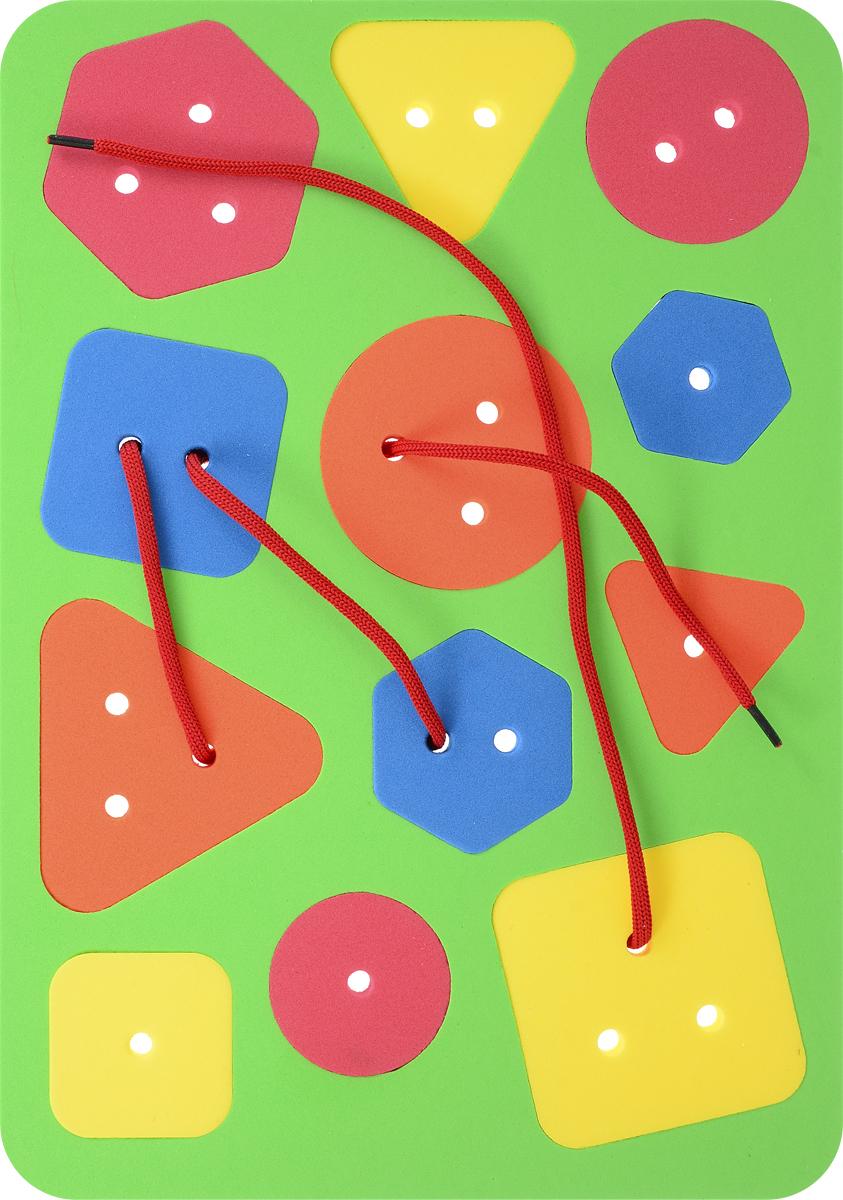 El'BascoToys Шнуровка-сортер Простые фигуры цвет основы салатовый