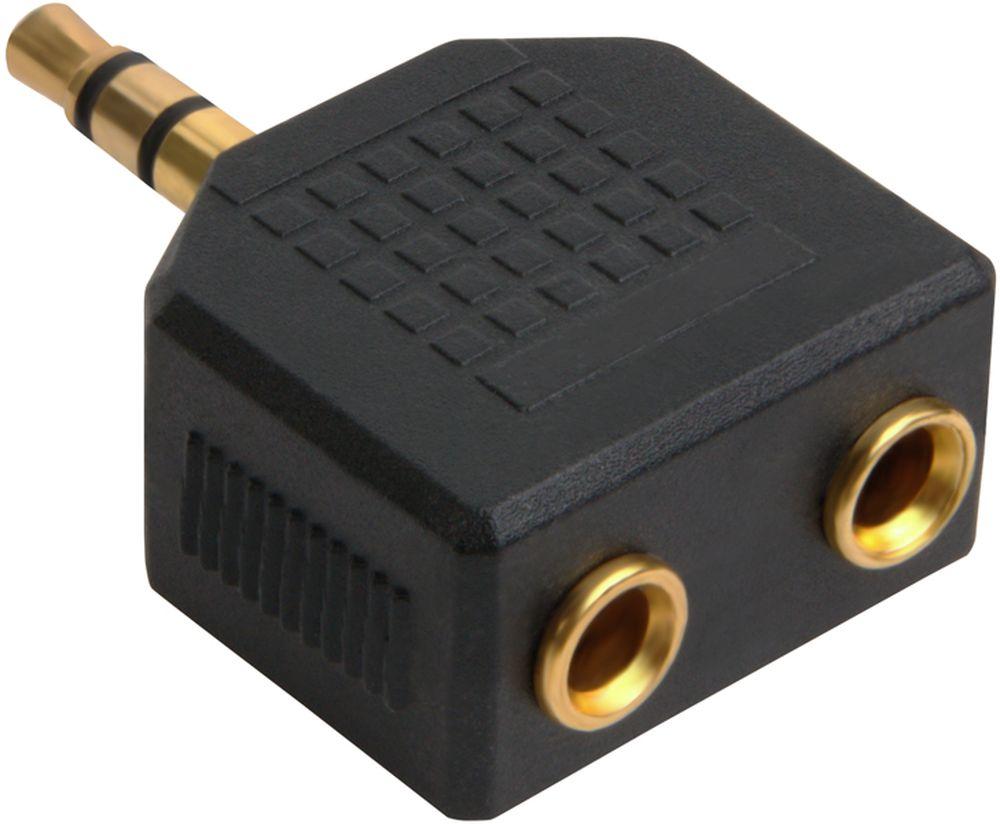 GCR GCR-AVA05, Black переходник-разветвитель Jack 3,5mm - 2 х Jack 3,5mm