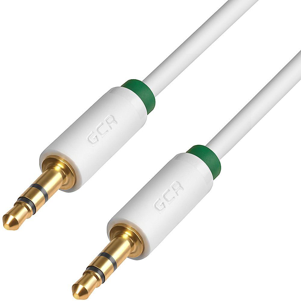 GCR GCR-AVC1662 Premium, White Green аудио-кабель Jack 3,5mm - Jack 3,5mm (1 м)GCR-AVC1662-1.0mПрекрасное качество исполнения и экранирования кабеля позволит избежать влияния помех при передаче сигнала. Он может быть использован для подключения например, гарнитуры с MP3-плеером, компьютера, DVD, TV, радио, CD плеер , в которых есть данный аудиоразъем. стереофонический jack 3.5 миллиметра [штекер) -стереофонический jack 3.5 миллиметра AMРазъемы кабеля или переходника: экранированный, медный Диаметр проводника питания: 28AWG Диаметр кабеля (OD): 3,0 мм Тип оболочки: TPE Цвет кабеля или переходника: белый Длина кабеля: 1.0 mЭкранирование: экран