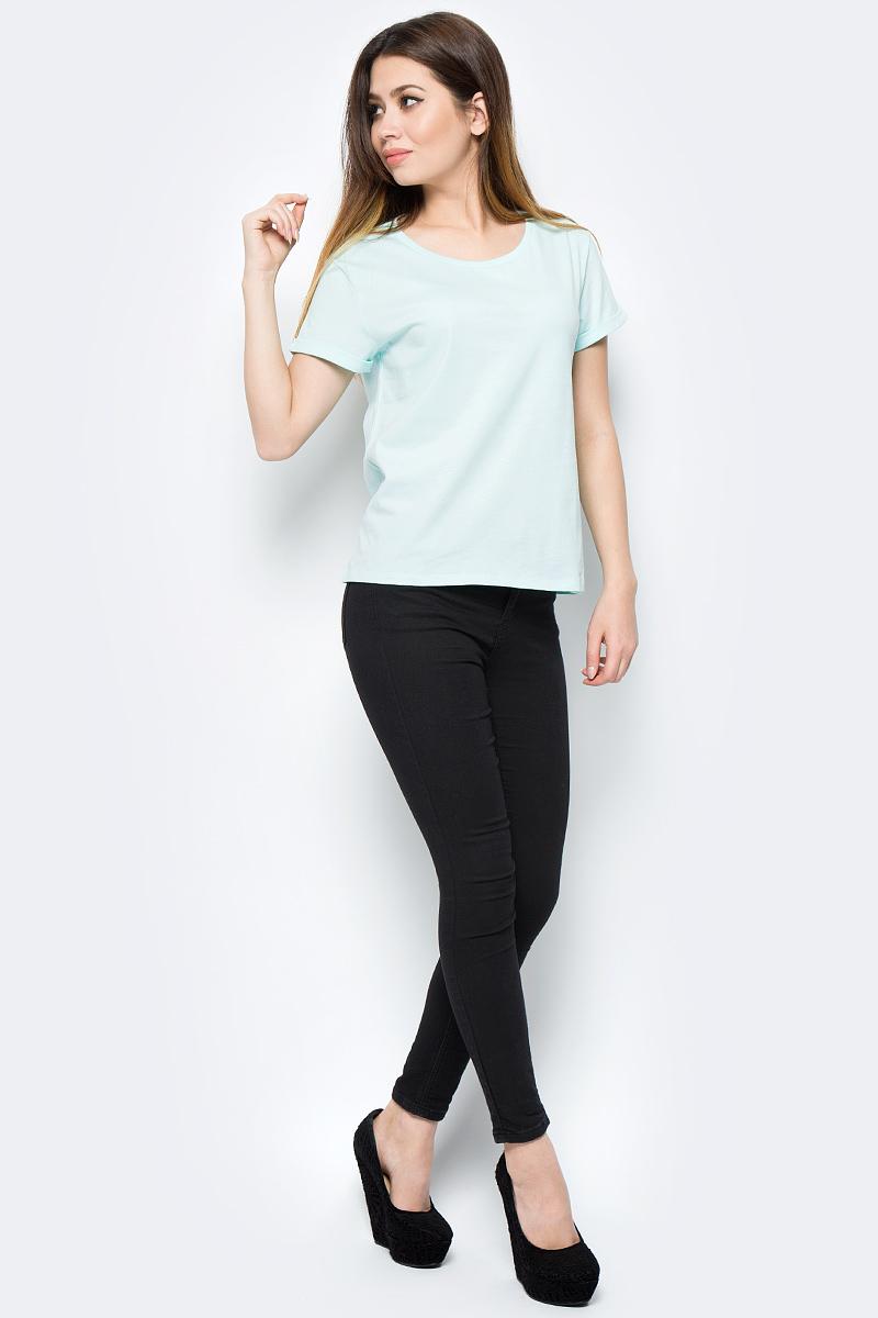 Футболка женская Tom Farr, цвет: зеленый. TW8586.02703-1-basic. Размер S (44)TW8586.02703-1-basicЖенская футболка от Tom Farr выполнена из натурального хлопка. Модель с короткими рукавами и круглым вырезом горловины.