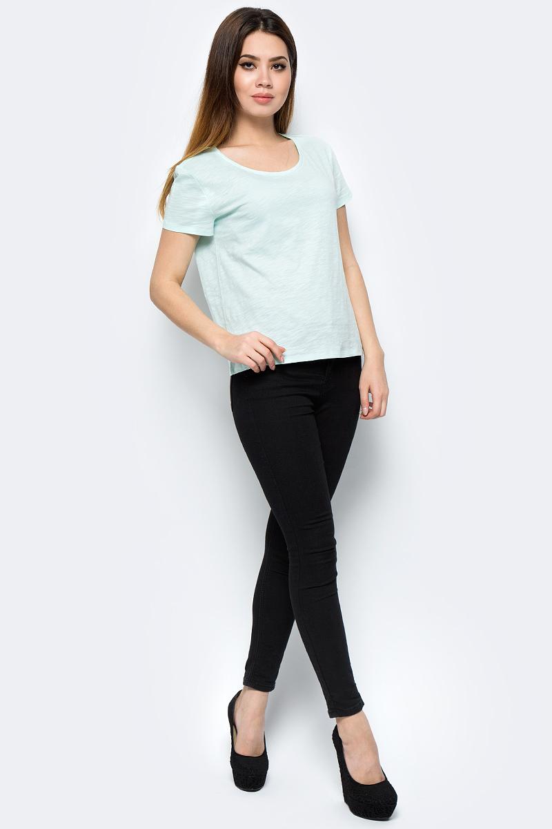 Футболка женская Tom Farr, цвет: зеленый. TW8673.02705-1-coll. Размер M (46)TW8673.02705-1-collЖенская футболка от Tom Farr выполнена из натурального хлопка. Модель с короткими рукавами и круглым вырезом горловины.