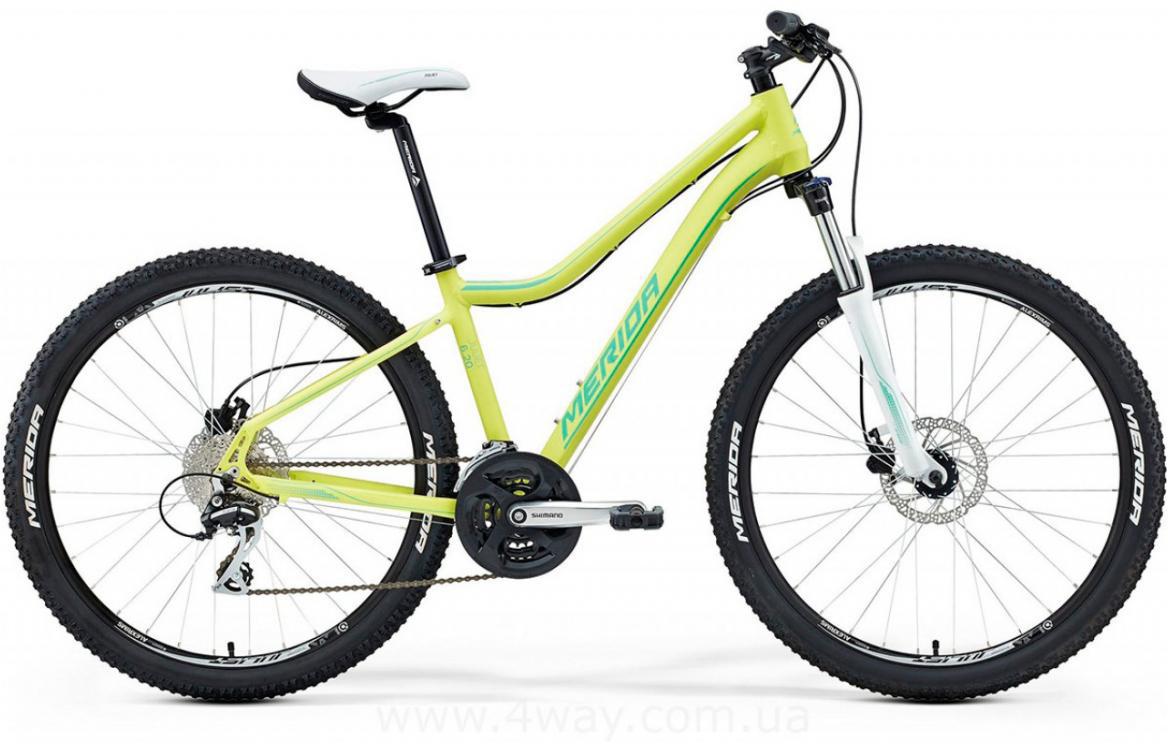 Велосипед женский Merida Juliet 6.20-D 2016, цвет: желтый, рама 18,5, колесо 26254907