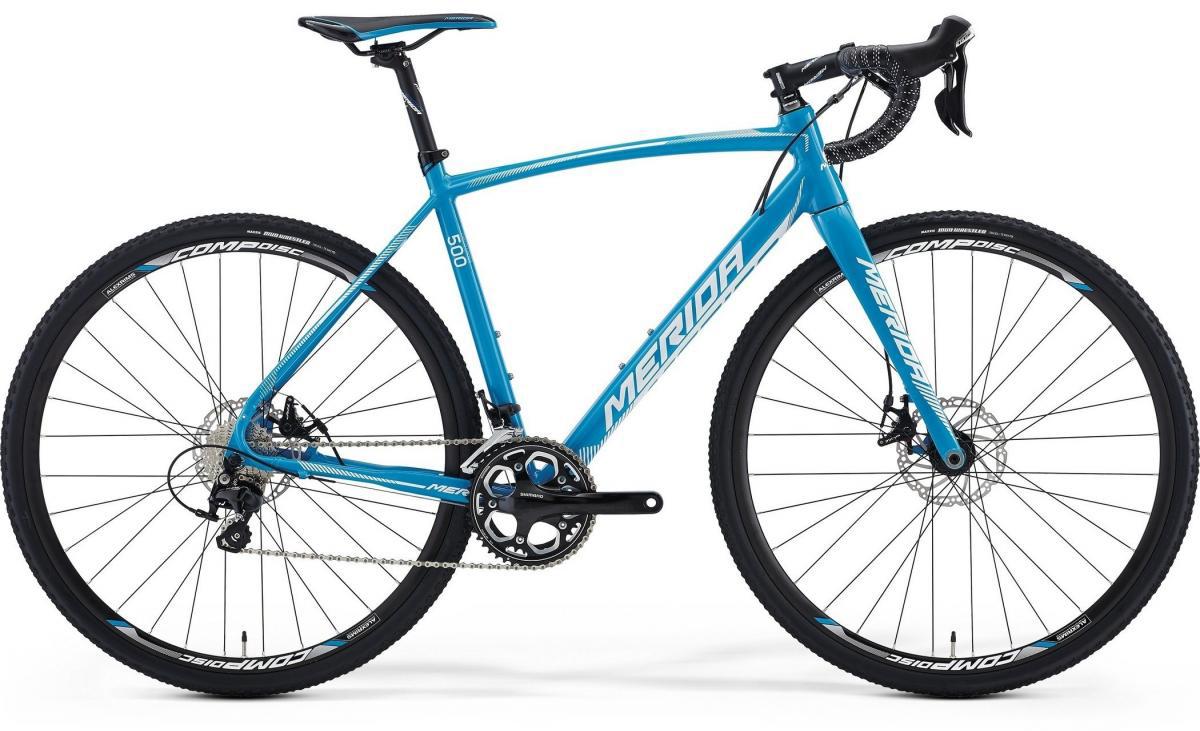 Велосипед шоссейный Merida Cyclo Cross 500 2016, цвет: синий, рама 22, колесо 28255115