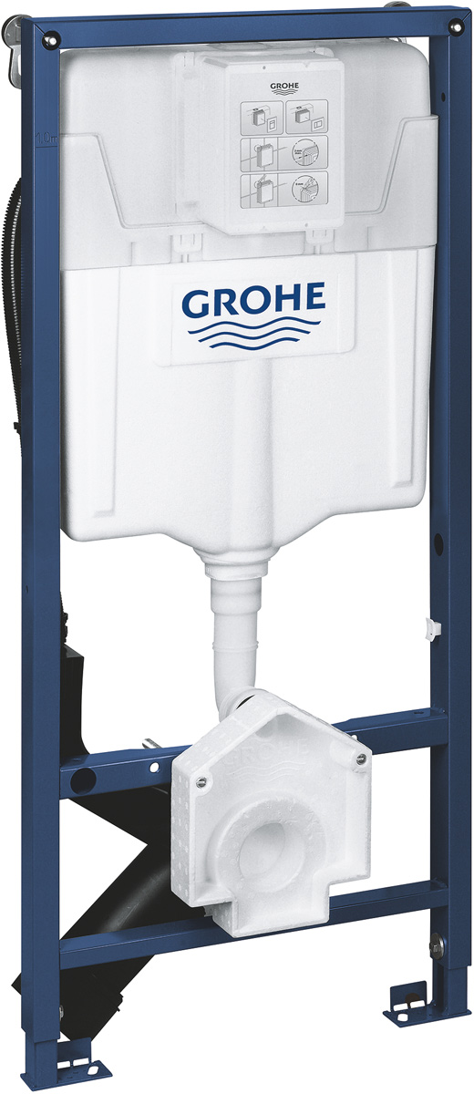 Система инсталляции Grohe Rapid SL для унитазов-биде коллекции Sensia, цвет: синий39112001Смывной бачок GD 2 с подключением для унитаза-биде GROHE «Sensia» (Sensia IGS/Sensia Arena) монтажная высота 1,13 м для монтажа перед стеной или стеной перегородкой самонесущая стальная рама с порошковым напылением подготовлена для облицовки фиксированные подключения быстрая регулировка по высоте крепежный материал проверено -TUEV 2 болта-держателя для унитаза крепление для керамики расстояние между болтами 180/230 мм PP-смывная дуга - диаметр 90 мм регулировка глубины монтажа редуктор диаметр 90/110 мм впускной и смывной гарнитуры смывной бачок GD 2, 6 - 9 л заводская настройка 6 л и 3 л Пневматический смывной клапан с тремя режимами слива: 2-х объёмный, старт/стоп, или непрерывный Подключение воды сзади Арматурная группа I с изоляцией от конденсационной влаги подключение воды DN 15 во время сборки не требуется дополнительного инструмента для монтажа инспекционного короба для вертикального или горизонтального монтажа 2 настенных угла с крепежным материалом универсальный подвод воды для унитаза-биде «Sensia Arena» и «Sensia IGS» скрытая электрическая розетка розетка для электроподсоединения для монтажа маленьких смывных панелей необходимо заказать ревизионный короб 40 911 000 (приобретается отдельно)