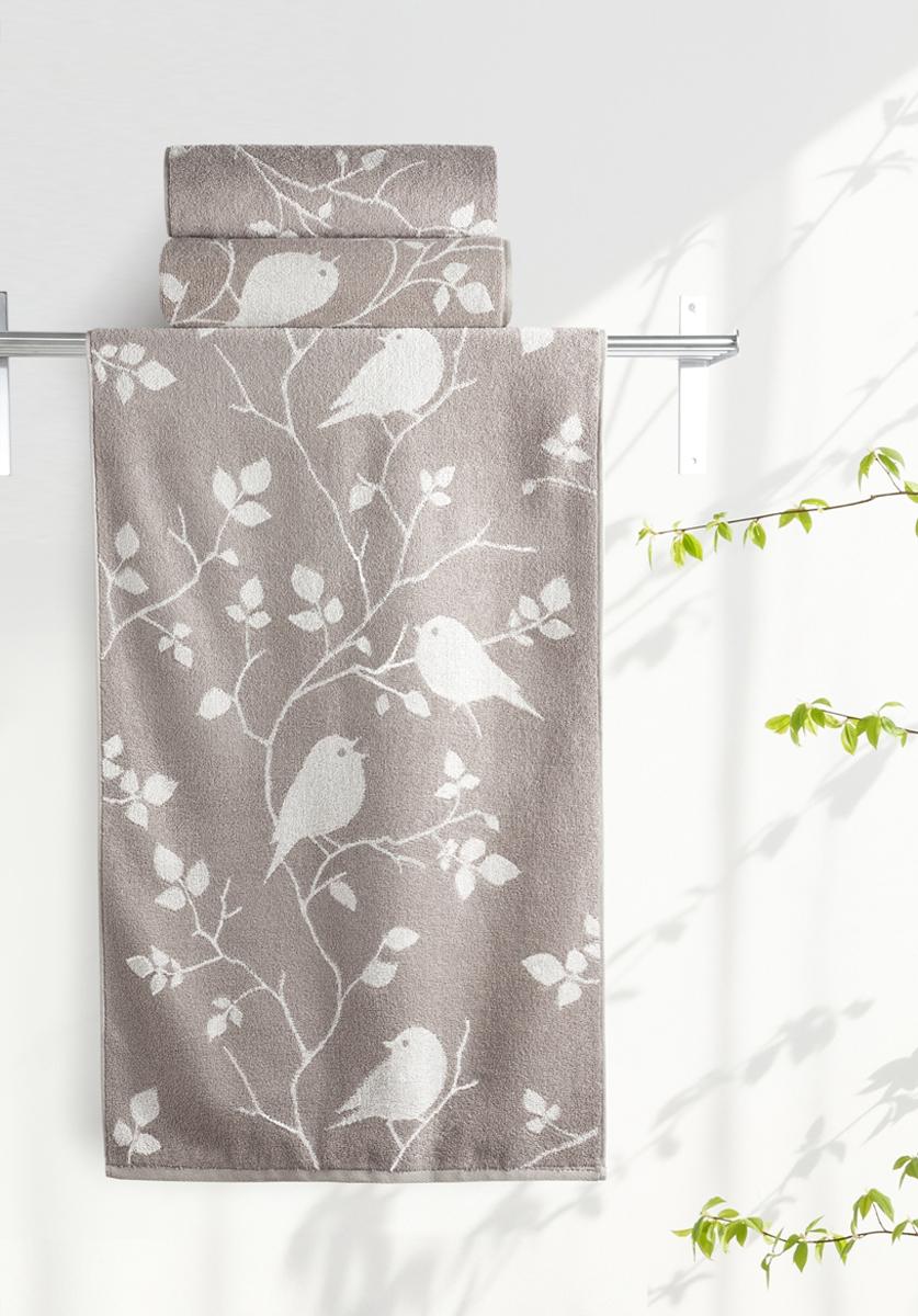 Полотенце Aquarelle Форест 3, цвет: белый, бежевый, 50 х 90 см. 711919 полотенце махровое aquarelle таллин 1 цвет ваниль 50 х 90 см 707762