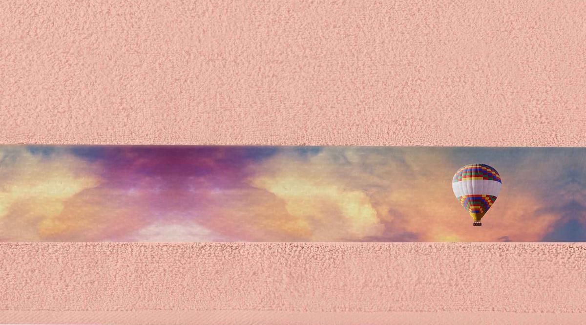 Полотенце банное Aquarelle Фотобордюр. Путешествия, цвет: розово-персиковый, 50 х 90 см. 712546712546Полотенце банное AQUARELLE, размер 50х90см, серия-Фотобордюр путешествия, розово-персиковый