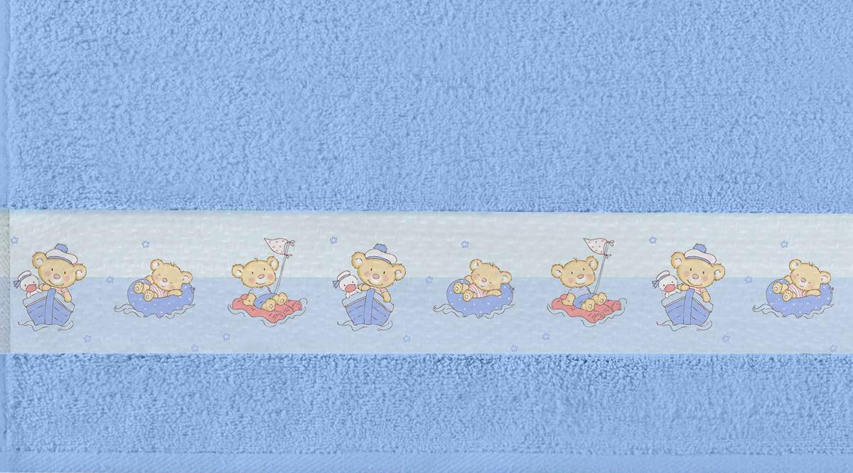 Полотенце банное Aquarelle Фотобордюр. Кораблики, цвет: васильковый, 70 х 140 см. 712577712577Полотенце банное AQUARELLE, размер 70х140см, серия-Фотобордюр кораблики, васильковый