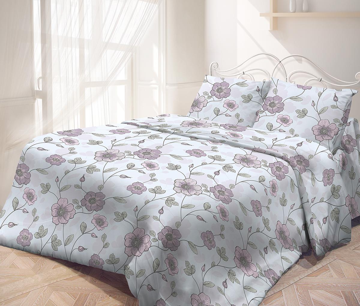 Комплект белья Самойловский текстиль Июнь, 1,5-спальный, наволочки 70х70 комплекты белья
