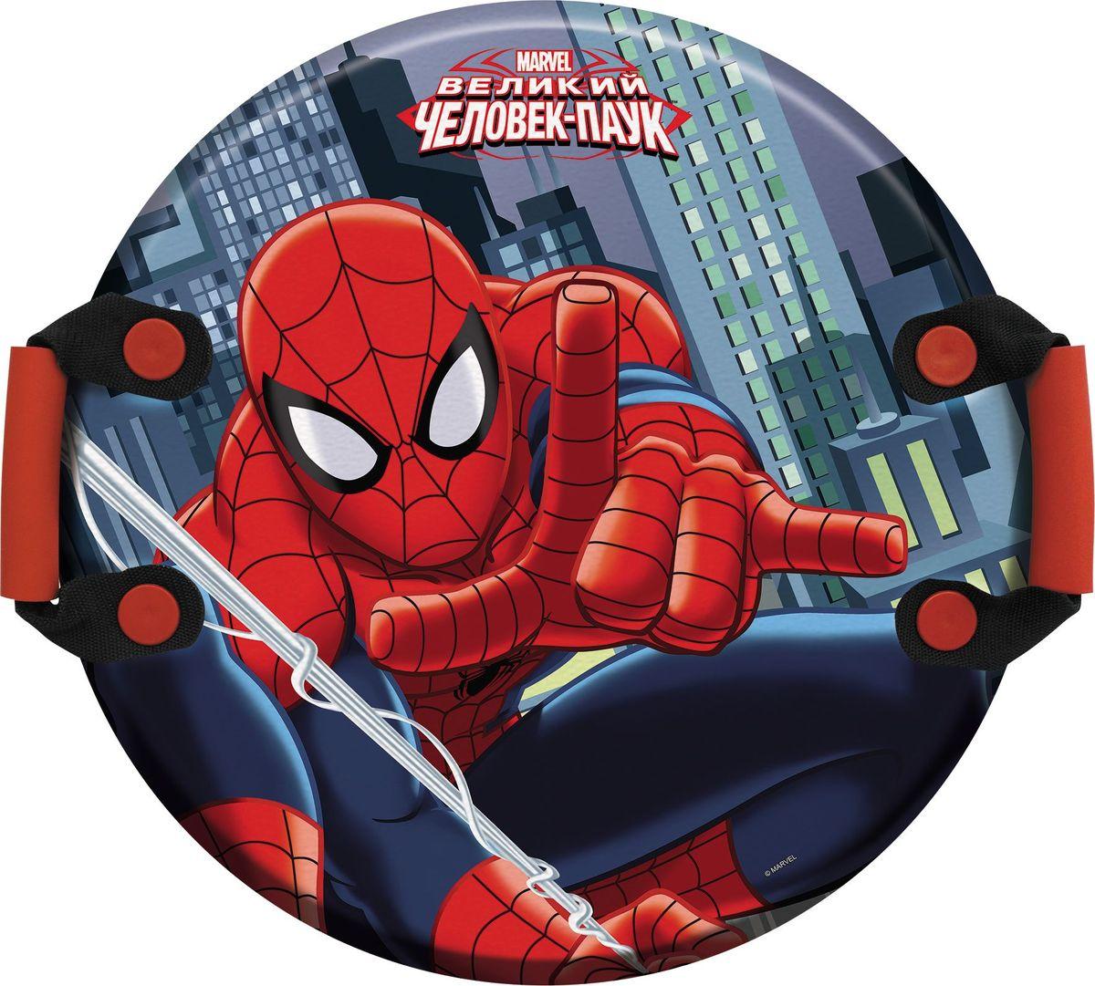 Ледянка 1TOY Marvel. Spider-Man, с ручками, 54 смТ59096Ледянка для любителей зимних спортивных развлечений с героями любимого мультфильма. Она подарит много радостных моментов вашему малышу. Ледянка красочно оформлена персонажами любимого мультфильма, и она легкая.Зимние игры на свежем воздухе. Статья OZON Гид