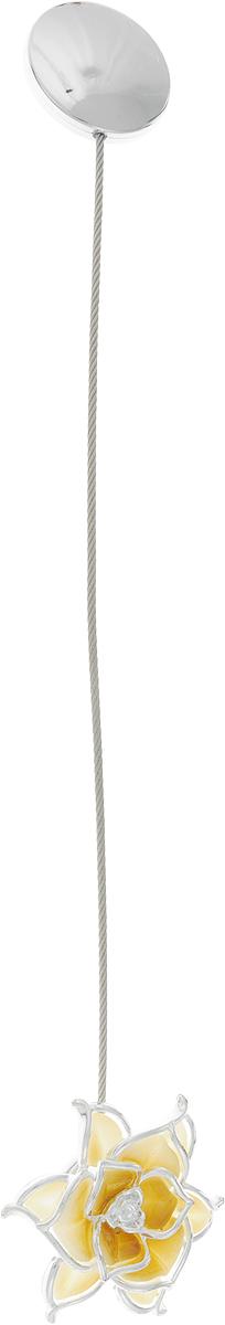 Подхват для штор TexRepublic Ajur. Tross, на магнитах, цвет: бежевый, 20 см. MI A223-378982Украшение для штор TexRepublic в виде декоративного цветка с магнитами используется для крепления шторы и декора окна. Изделие выполнено из качественного пластика.Диаметр цветка: 6 см.Длина: 20 см.