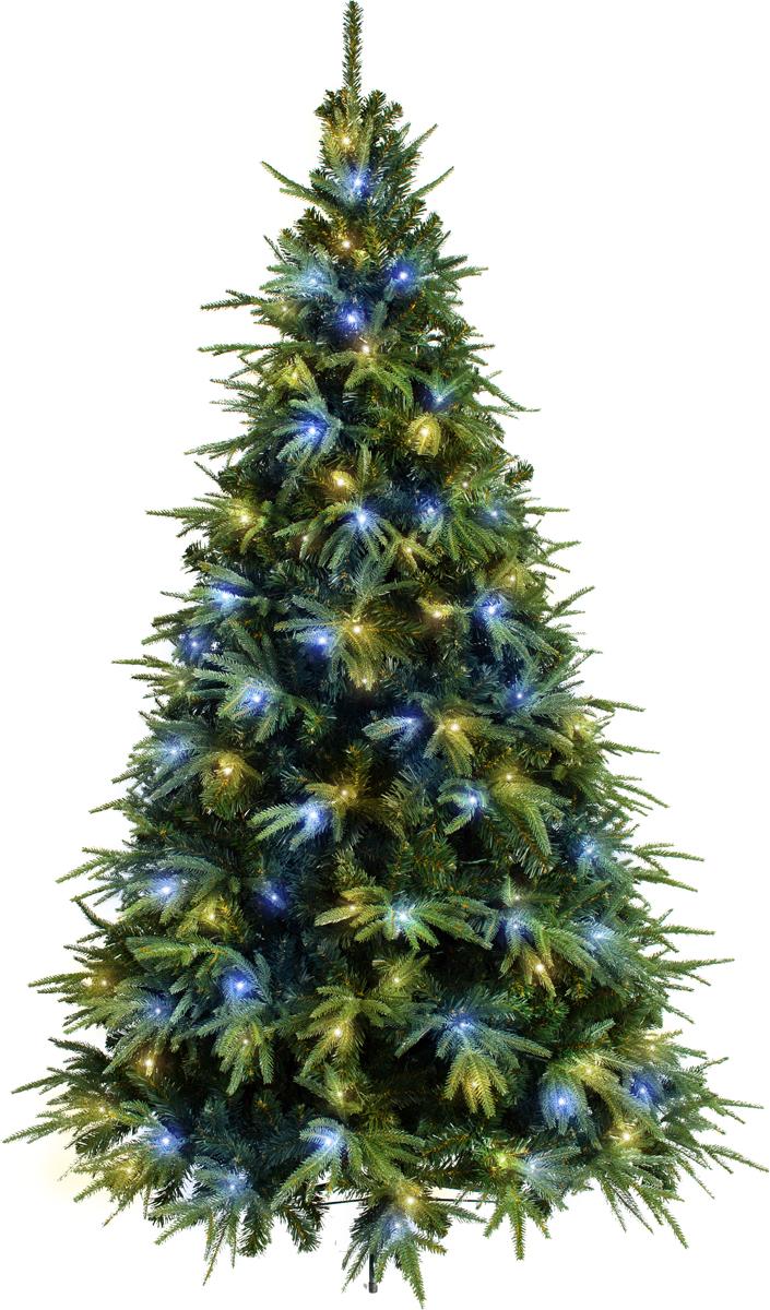 Ель искусственная Crystal Trees Альба, с вплетенной гирляндой 210 смKP3121LЕль Альба с вплетенной гирляндой ТМ Crystal Trees - производится в России и является представительницей итальянской коллекции.Эта пушистая новогодняя красавица, переливающаяся завораживающими, огоньками принесёт в Ваш дом волшебную атмосферу праздника и сразу станет центром внимания.Каждая веточка детально проработана. За счёт смешанного типа хвои (пленка+резина), ветви ели необыкновенно пушистые, а иголочки выглядят, как натуральные. Вплетенная в крону гирлянда дарит елочке возможность сверкать и радовать окружающих своей красотой.«Ель Альба с вплетенной гирляндой» - находится в среднем ценовом сегменте. По доступной цене Вы приобретаете ель, выполненную из высококачественного материала и полностью безопасную в использовании. Ель состоит из трех ярусов, ветви уже зафиксированы на стволе, Вам остаётся их только распушить. Легко и быстро собирается, экономя Ваше драгоценное время