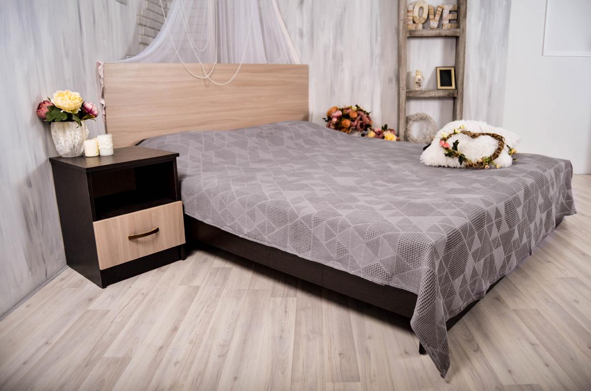Покрывало Arloni Ромбики, цвет: серый, 150 х 200 см9981-2ARL
