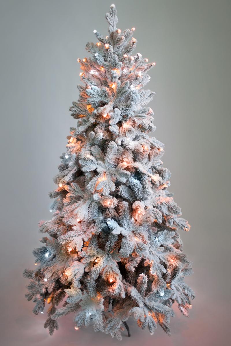 Ель искусственная Crystal Trees Габи, заснеженная с вплетенной гирляндой 210 смKP3221SLCrystal Trees Искусственная Ель Габи заснеженная с вплетенной гирляндой - Стройная искусственная Ель с прекрасными небольшими формами, благодаря которым ей не потребуется очень много места. Елка изготовлена из высококачественных материалов что позволяет ей сохранять свои формы из года в год, позволяя Вам не нарушать традиции этого прекрасного новогоднего праздника.Встроенная Гирлянда мягким светом придает дому приятную атмосферу и уют, а нанесенное белое опыление напоминающее белый и пушистый снег дает понять что вы попали в зимнюю сказку.За счет типа крепления фиксированные на стволе елка очень проста в сборке и не потребует много сил, что значительно с экономит Ваше время в преддверии праздника.