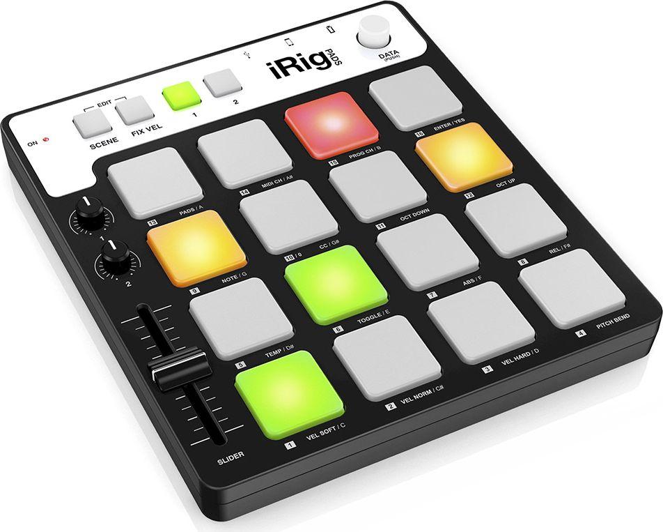 IK Multimedia iRig Pads, Black MIDI-контроллерIP-IRIG-PADS-IN