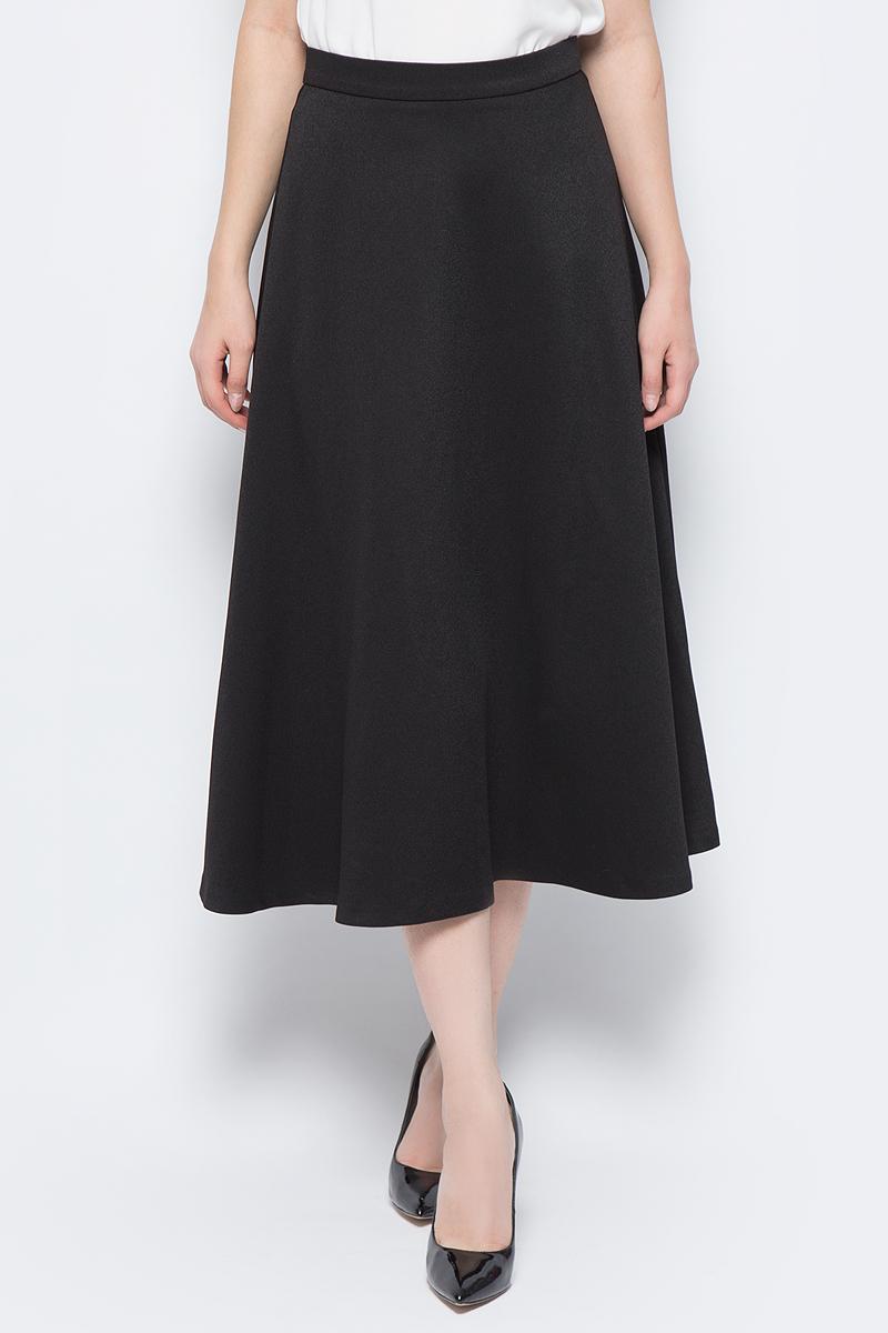 Юбка adL, цвет: черный. 12733195000_001. Размер M (44/46)12733195000_001Стильная юбка adL выполнена из плотного полиэстера. Модель длины миди с посадкой на талии дополнена сзади застежкой на потайную-молнию. В такой юбке вы будете выглядеть элегантно и женственно.