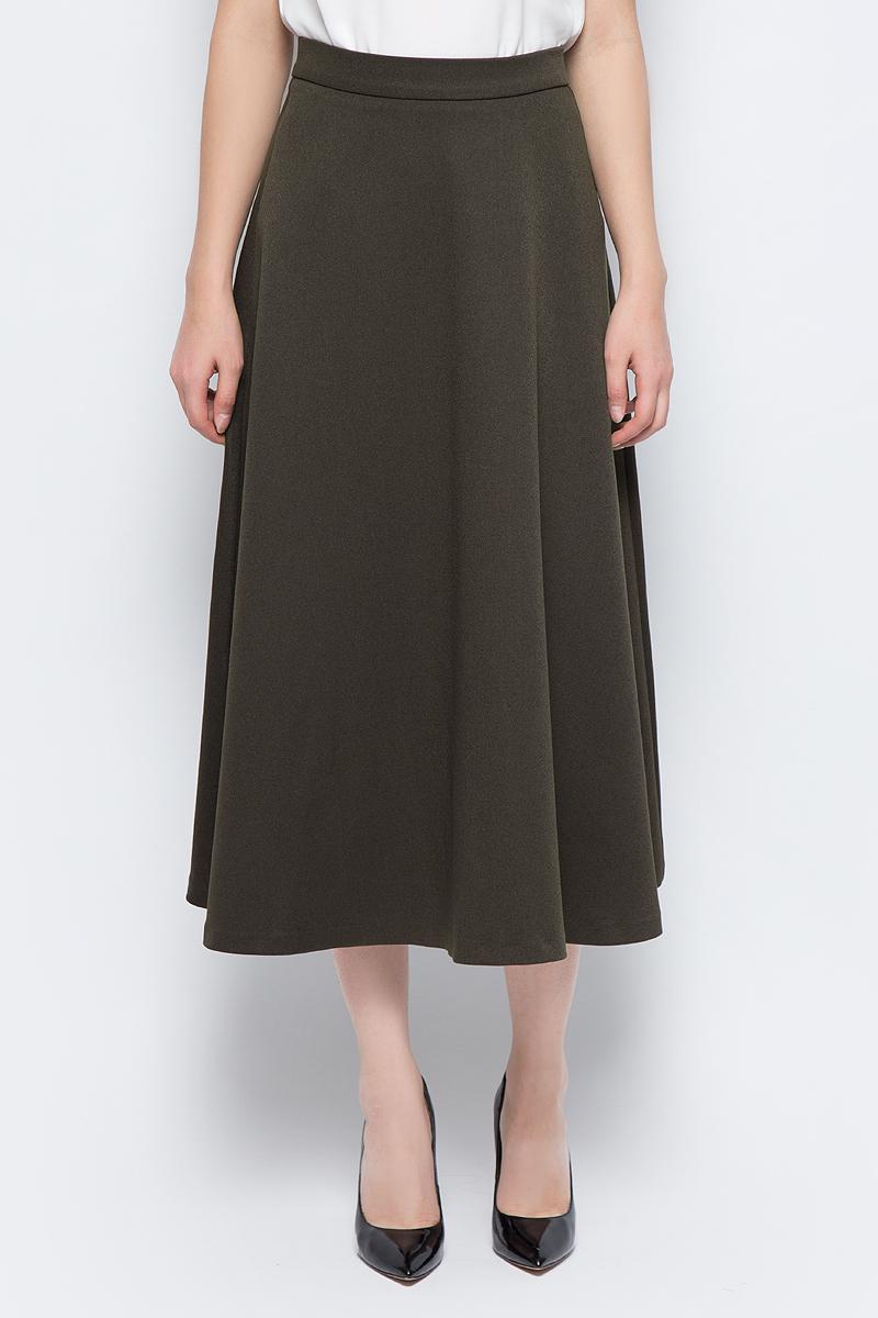 Юбка adL, цвет: серо-зеленый. 12733195000_034. Размер XS (40/42)12733195000_034Стильная юбка adL выполнена из плотного полиэстера. Модель длины миди с посадкой на талии дополнена сзади застежкой на потайную-молнию. В такой юбке вы будете выглядеть элегантно и женственно.