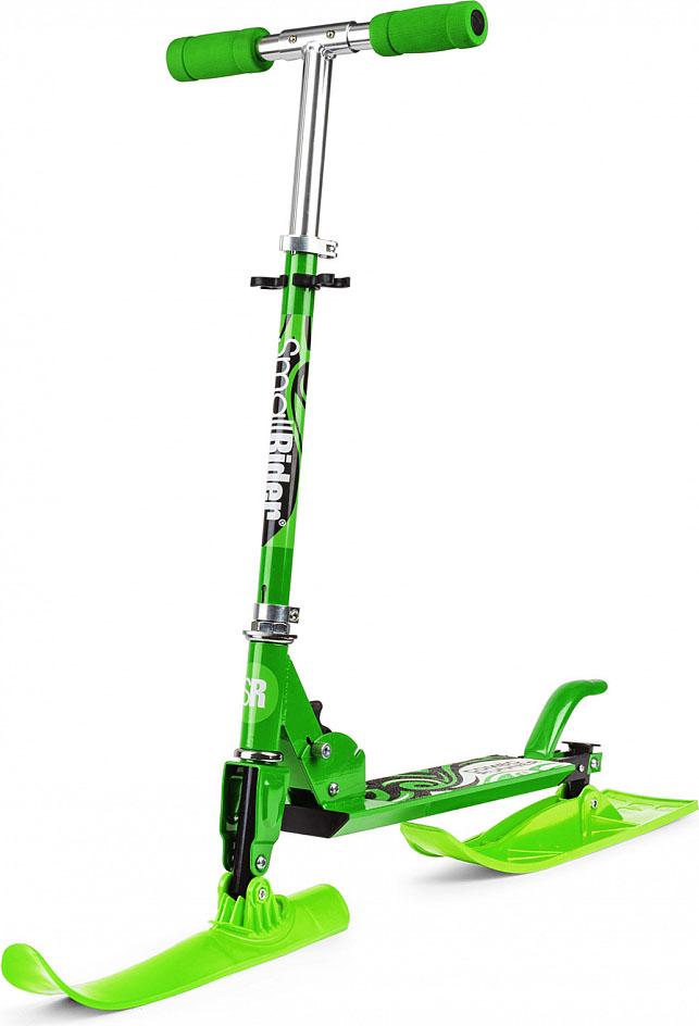 Самокат-снегокат Small Rider  Combo Runner 120 , с лыжами и колесами, цвет: зеленый - Санки и снегокаты