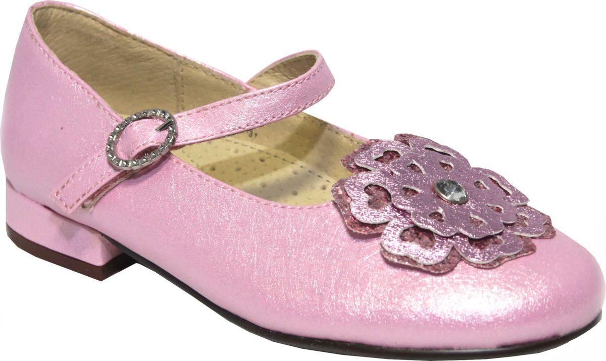 Туфли для девочки Аллигаша, цвет: розовый. 10-109. Размер 3410-109Туфли от Аллигаша придутся по душе вашей девочке. Верх обуви, изготовленный из искусственной кожи, оформлен на мысе декоративным элементом. Ремешок с липучкой надежно зафиксирует изделие на ноге. Подкладка и стелька изготовлены из натуральной кожи, что гарантирует уют ногам. Подошва с рифлением обеспечивает идеальное сцепление с любыми поверхностями. Стильные туфли займут достойное место в гардеробе вашего ребенка.