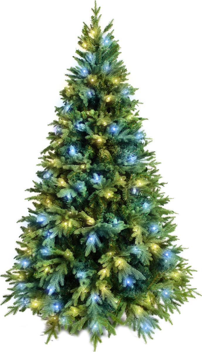 Ель искусственная Crystal Trees Этна, с вплетенной гирляндой 180 см елка искусственная