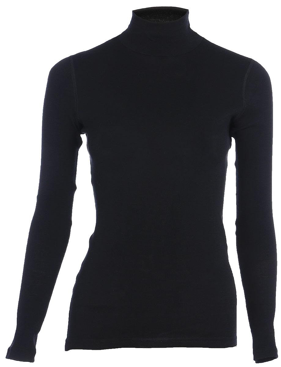 Термобелье водолазка женская Dr. Wool, цвет: черный. DWL 218. Размер 50/52DWL 218Женская водолазка Dr. Wool подойдет на любой сезон. Модель мягкая, легкая, швы не натирают кожу. Температурный контроль исключает переохлаждение или перегрев тела. Натуральный материал отлично испаряет влагу и позволяет коже дышать, блокируя неприятный запах и размножение бактерий.