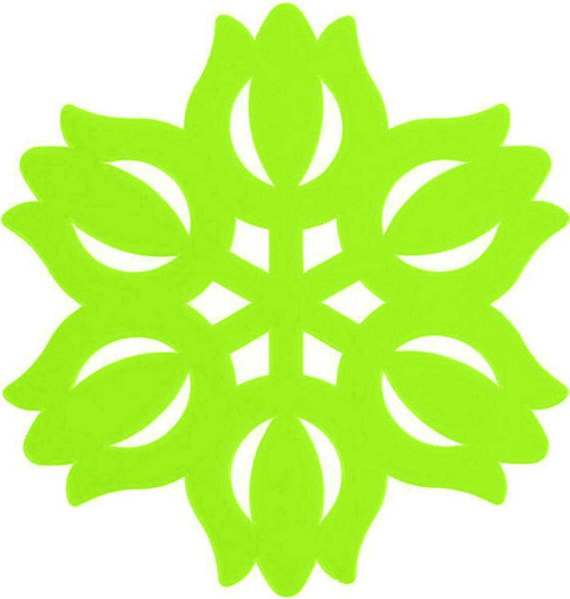 Подставка под горячее Доляна, Тюльпан, цвет: салатовый, 11 см811889_салатовыйСиликоновая подставка под горячее — практичный предмет, который обязательно пригодится в хозяйстве. Изделие поможет сберечь столы, тумбы, скатерти и клеенки от повреждения нагретыми сковородами, кастрюлями, чайниками и тарелками.