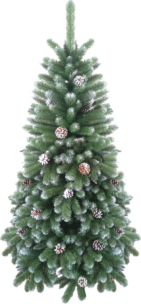 Ель искусственная Crystal Trees Триумфальная, заснеженная с шишками 150 смKP8615Crystal Trees Искусственная Ель Триумфальная заснеженная с шишками - Ель Триумфальная, безоговорочный лидер, красота и изящность этой елочки не оставит равнодушных даже самого капризного покупателя. Новогодняя красавица, выполненная из заснеженной ПВХ пленки, украшенная шишками, выглядит оригинально и натурально, что не мало важно при выборе елочки к празднику. С сборкой справится даже новичок, собирается елочка из вставных ветвей, которые выполнены из нержавеющего металла, с цветовыми обозначениями. В комплекте идет 4 - х ножная металлическая подставка, в которую вставляется ствол и крепится с помощью винтов. Качественный материал, и сохранение всех норм производства ели, позволяют гарантировать её использование не менее 12 лет.