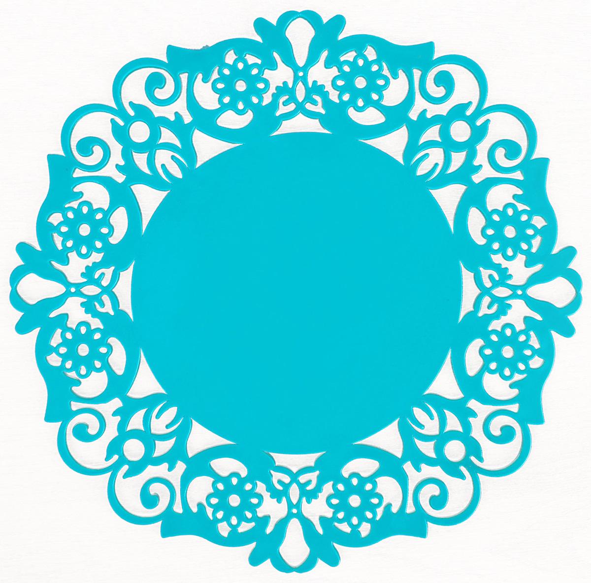 Подставка под горячее Доляна Чаепитие, цвет: голубой, 20 см812071_голубойПодставка под горячее Доляна Чаепитие, цвет: голубой, 20 см