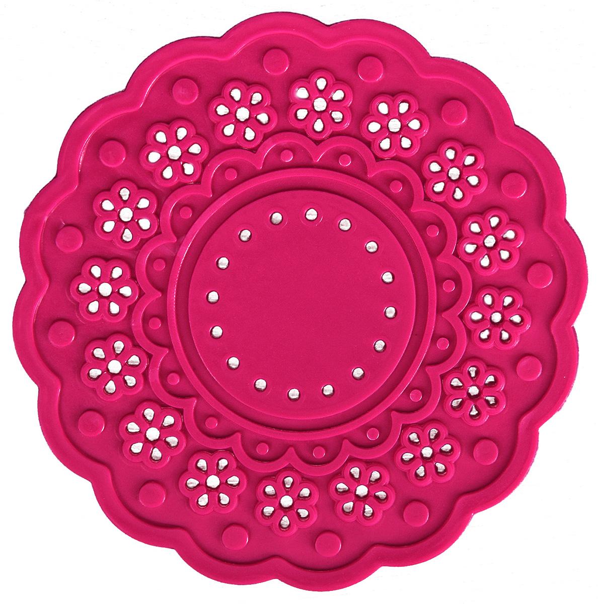 Набор подставок под горячее Доляна Затея, цвет: малиновый, диаметр 10 см, 4 шт столы