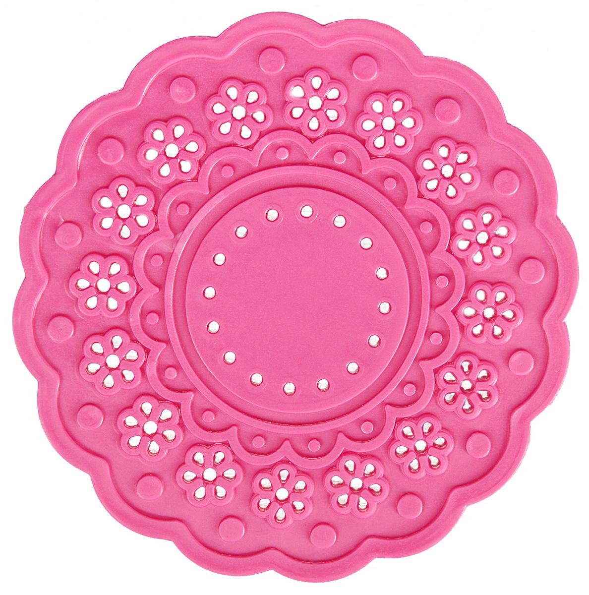 Набор подставок под горячее Доляна Затея, цвет: розовый, 10 см, 4 шт830227_розовыйСиликоновая подставка под горячее — практичный предмет, который обязательно пригодится в хозяйстве. Изделие поможет сберечь столы, тумбы, скатерти и клеёнки от повреждения нагретыми сковородами, кастрюлями, чайниками и тарелками.