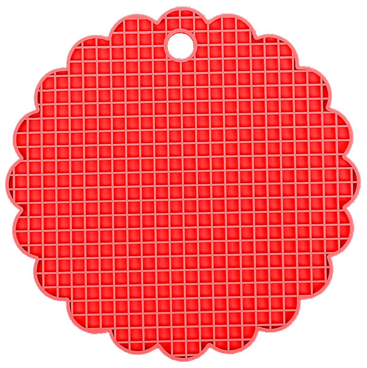 Подставка под горячее Доляна Цветок, цвет: красный, 19,5 см1057098_красныйСиликоновая подставка под горячее - практичный предмет, который обязательно пригодится в хозяйстве. Изделие поможет сберечь столы, тумбы, скатерти и клеенки от повреждения нагретыми сковородами, кастрюлями, чайниками и тарелками.