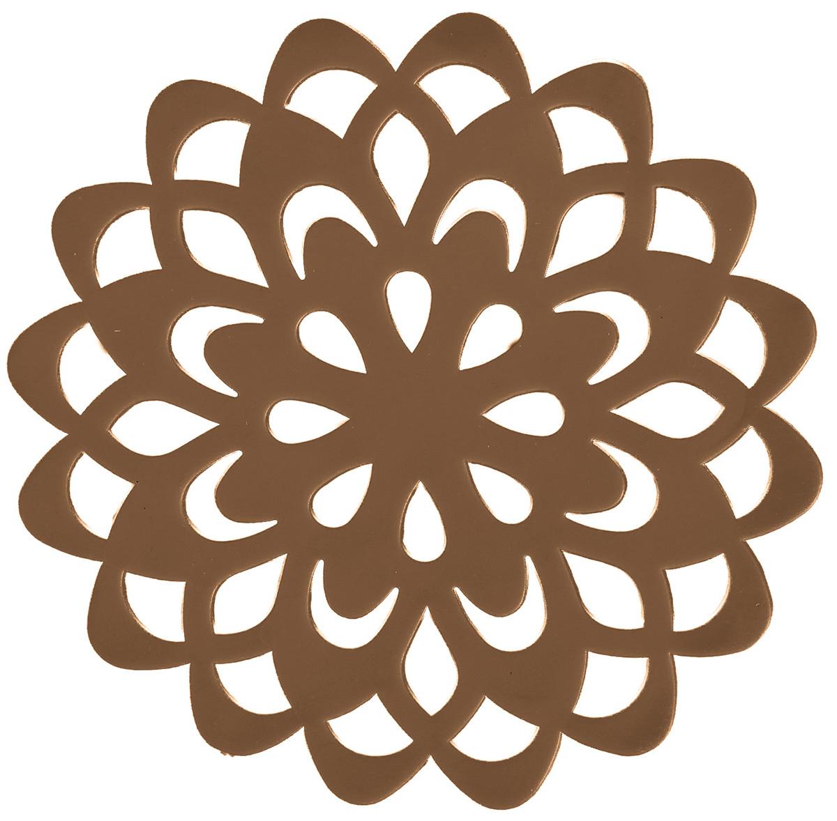 Набор подставок под горячее Доляна Воспоминание, цвет: коричневый, диаметр 10 см, 4 шт столы