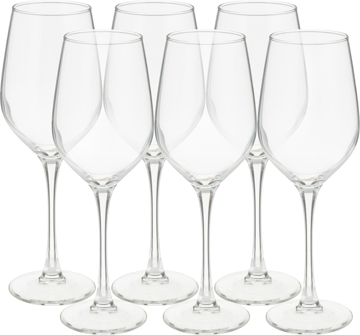 """Стеклянные бокалы Luminarc """"Селест"""" очень красивой формы, напоминающей полураскрытый тюльпан. Глубокие бокалы такой формы предназначены, как правило, для подачи белых вин. Особенность белого вина в том, что будучи выпитым из посуды неподходящей формы, оно теряет вкус, не раскрывает букет. Коллекция Luminarc """"Селест"""" безупречна в этом плане."""