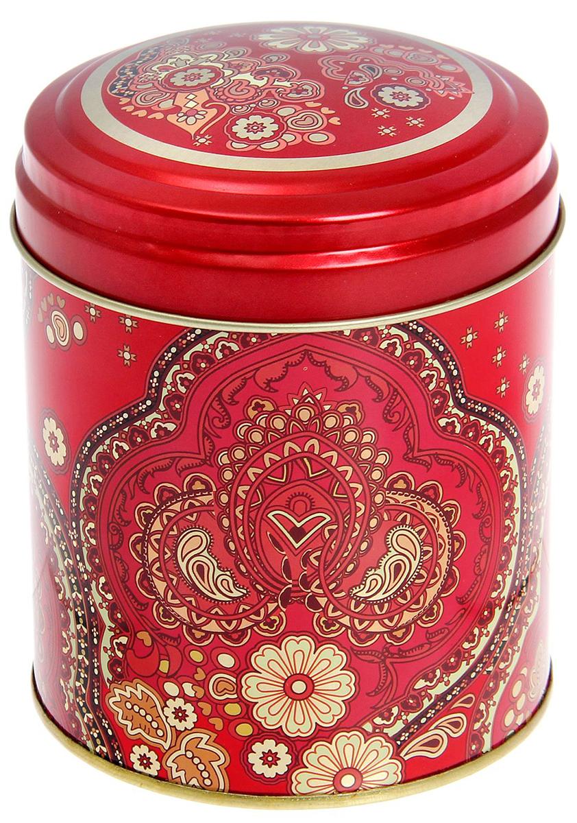 Банка для сыпучих продуктов Рязанская фабрика жестяной упаковки Арабески, цвет: красный, 800 мл1769529_красный