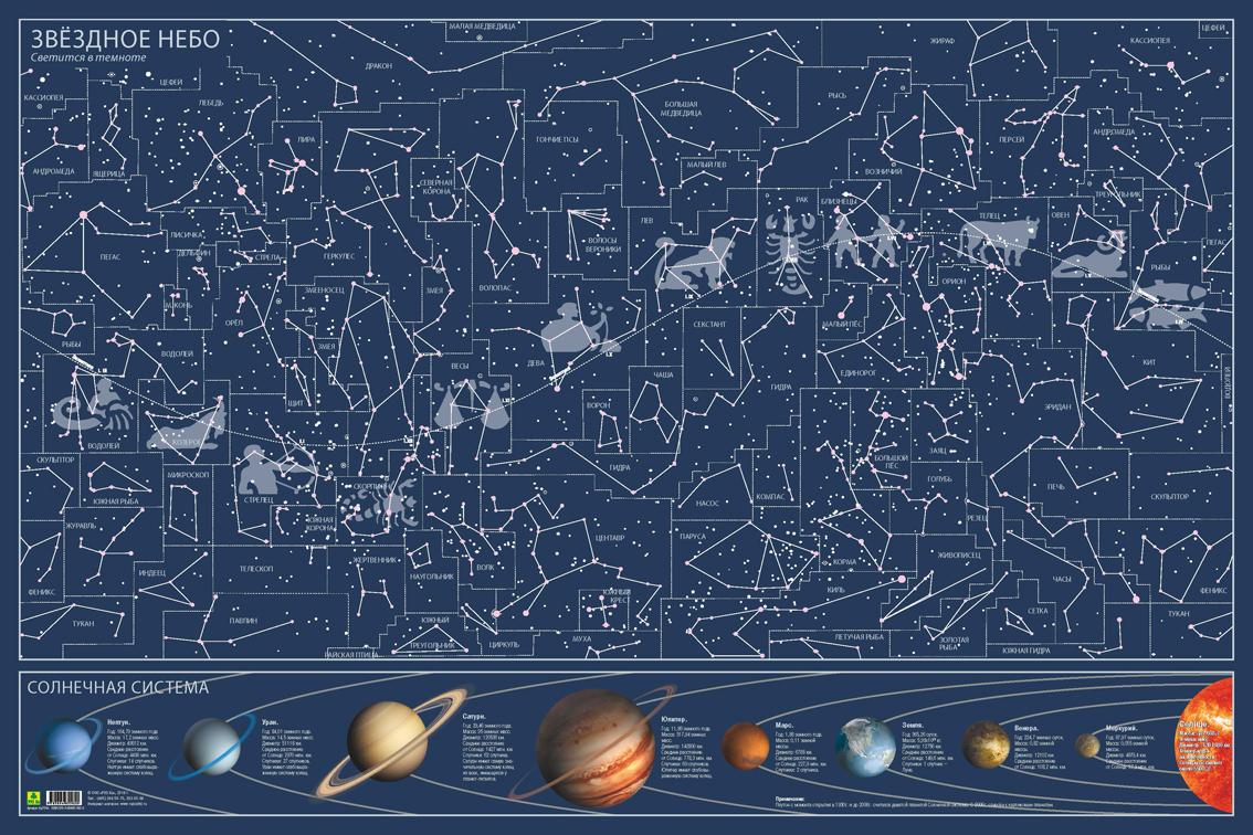 Карта звездного неба. СВЕТЯЩАЯСЯ В ТЕМНОТЕ проектор звездного неба