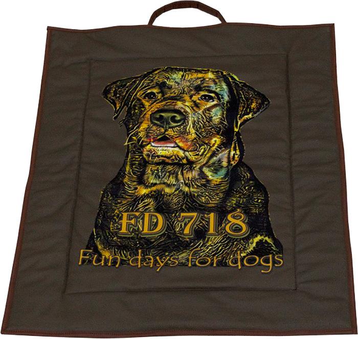 Лежак Собака Бамка, цвет: темно-коричневый, 60 x 80 см лежак собака стив цвет оранжевый 60 x 80 см