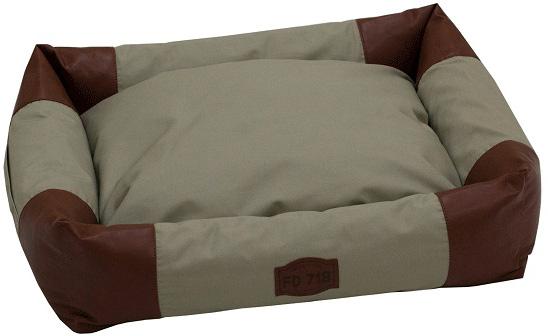 Лежак с бортами FunDays, цвет: коричневый, бежевый, 15 x 45 x 55 см
