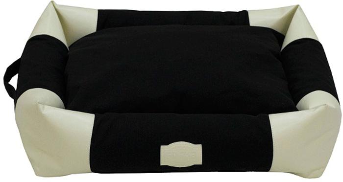 Лежак с бортами FunDays, цвет: черный, бежевый, 15 x 45 x 55 смFIDB-0215/9215Мягкий лежак несомненно понравится вашему питомцу. Благодаря бортикам ему будет очень уютно.