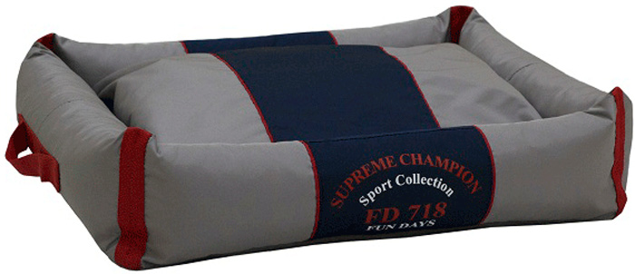 Лежак с бортами FunDays Спорт, цвет: серый, 15 x 45 x 55 см988