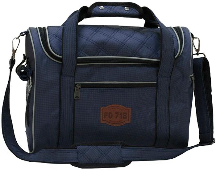 Сумка-переноска FunDays FD-Сlassic, цвет: синий, 30 x 20 x 40 см1244