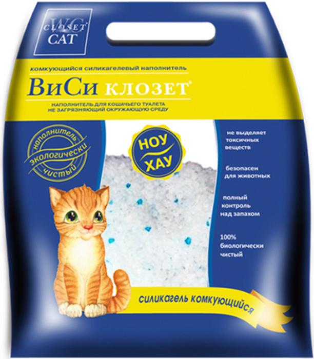 Наполнитель для кошачьего туалета ВиСи Клозет, силикагелевый, 3,8 л8352Силикагелевый наполнитель ВиСи Клозет на 100% изготовлен из натурального сырья и поэтому безопасен для окружающей среды, домашних животных и человека. Микроструктура наполнителя моментально поглощает до 80% всего объема неприятных запахов и всю жидкость так, что поверхность наполнителя остается сухой. В наполнителе отсутствует пыль, поэтому он не вызывает аллергию у людей и животных - не раздражает глаза и нос.Силикагелевый наполнитель экономичен настолько, что 3,8 литра хватает одной кошке более, чем на месяц.