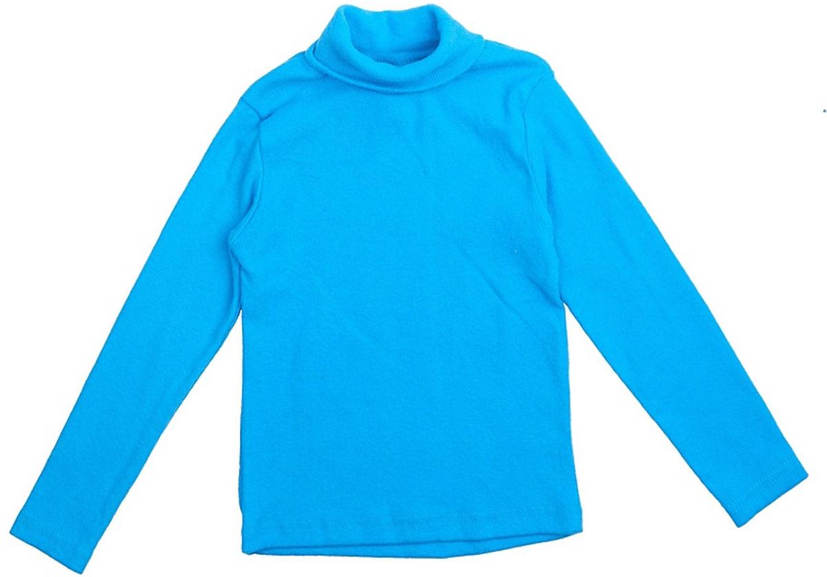 Водолазка для мальчика JimJim, цвет: голубой. DP104. Размер 128DP104Великолепная детская водолазка JimJim идеально подойдет вашему ребенку. Изготовленная из натурального хлопка с добавлением эластана, она необычайно мягкая и приятная на ощупь, не сковывает движения малыша и позволяет коже дышать, не раздражает даже самую нежную и чувствительную кожу ребенка, обеспечивая ему наибольший комфорт. Водолазка классического кроя с длинными рукавами и воротником-гольф. Оригинальный современный дизайн и модная расцветка делают эту водолазку модным и стильным предметом детского гардероба.