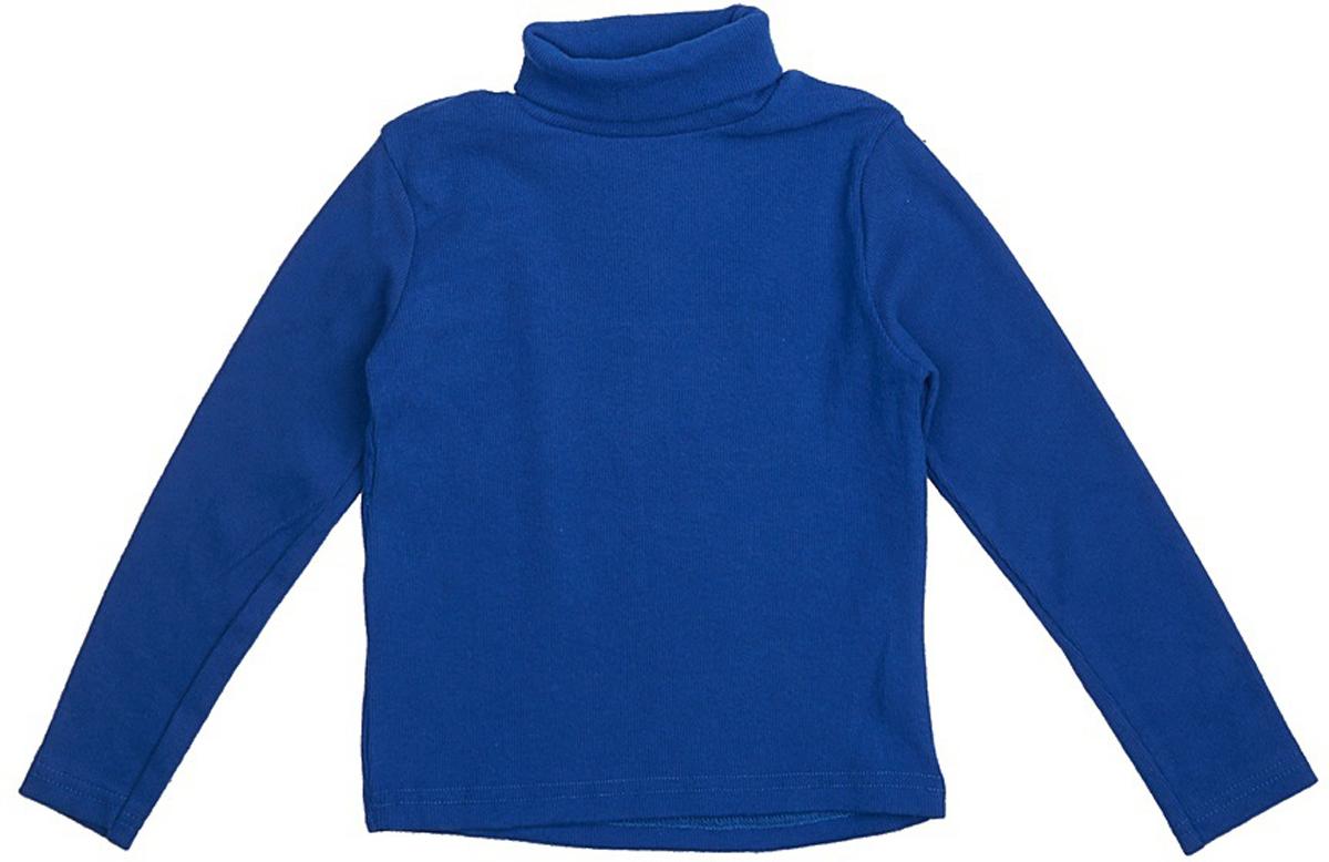 Водолазка для мальчика JimJim, цвет: синий. DP106. Размер 86DP106Великолепная детская водолазка JimJim идеально подойдет вашему ребенку. Изготовленная из натурального хлопка с добавлением эластана, она необычайно мягкая и приятная на ощупь, не сковывает движения малыша и позволяет коже дышать, не раздражает даже самую нежную и чувствительную кожу ребенка, обеспечивая ему наибольший комфорт. Водолазка классического кроя с длинными рукавами и воротником-гольф. Оригинальный современный дизайн и модная расцветка делают эту водолазку модным и стильным предметом детского гардероба.